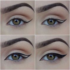 omghow How To Put on Liquid Eyeliner ❤ liked on Polyvore featuring beauty products, makeup, eye makeup, eyeliner, eyes, liquid eye liner and liquid eyeliner
