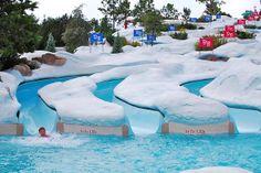 Blizzard beach in Disney world Disney World Water Parks, Disney World Resorts, Disney Vacations, Disney Parks, Walt Disney World, Cool Slides, Water Slides, Disney Blizzard Beach, Roller Coaster