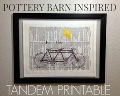 DIY: Pottery Barn Inspired Tandem Art {Free Printable} - Inspiration For Moms
