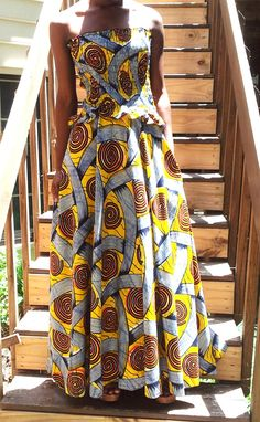 Ladies African Print Dress