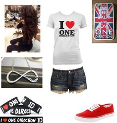 """""""One Direction Concert"""" by lanesml ❤ liked on Polyvore"""