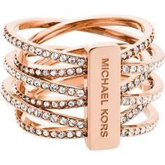 Dieses Weihnachtsgeschenk lässt Frauenherzen schmelzen! Der Michael Kors Brilliance Ring in roséfarben.