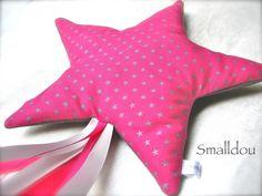Doudou étoile filante Fuchsia/Gris Smalldou