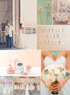 Vintage wedding inspiration with large photo save the date magnet