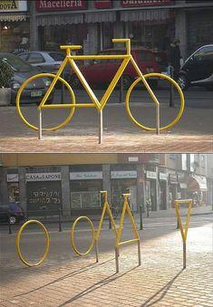 Cool bike rack illustration via Momentum Mag . - Cool bike rack illustration via Momentum Mag Mehr - Illusion Kunst, Art Public, Instalation Art, Bicycle Art, Bicycle Design, Bike Rack, Optical Illusions, Optical Illusion Art, Art Optical