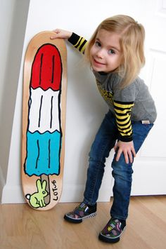 kid art: paint a skateboard deck