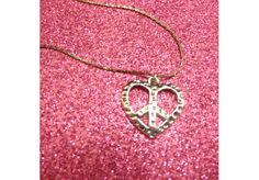 PEACE SIGN HEART EARRINGS and MATCHING NECKLACE FREE SHIPPING! NO COPIOUSE FEES! $4.69