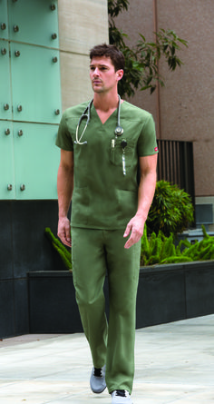 EDS Signature Men's Fit style features a front chest pocket with a bar tacked pencil slot and side vents. Lab Coats, Medical Scrubs, Men In Uniform, Scrub Tops, Fitness Fashion, Beautiful Men, Dental, Medical Uniforms, Gay Men