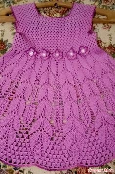 Diy Crafts - DIY & crafts projects, contents and more - Diy Crafts Best 12 556968678917249794 P Crochet Dress Girl, Crochet Baby Dress Pattern, Baby Dress Patterns, Baby Girl Crochet, Crochet Baby Clothes, Crochet For Kids, Knit Crochet, Crochet Patterns, Beautiful Crochet