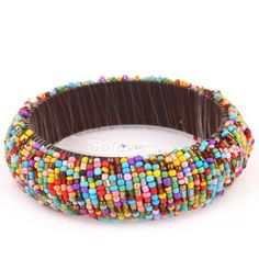 Beaded bracelet...would finish the inside by covering the thread, either felt or leather, or cover the whole bracelet with silk prior to beading.