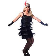 Fashion Flapper Black Adult Halloween Costume