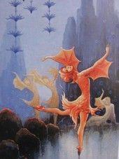 Rudolf Koivu: Pieni kultakala (The Little Goldfish) Graphic Design Print, Graphic Prints, Art Magique, Printed Magnets, Paper Toy, Autumn Fairy, Inspiration Art, Fairy Art, Decoupage