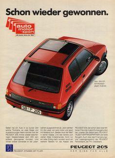"https://flic.kr/p/M1rxuV   1988 Peugeot 205 GTI (German ad)   ""Already…"