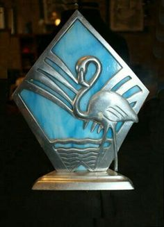 Beautiful Art Deco Flamingo Lamp #artdecolamps