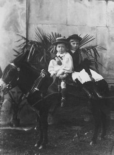 Princess Alice and Charles Edward, Duke of Albany, 1891 [in Portraits of Royal Children Vol.39 1890-1891] | Royal Collection Trust
