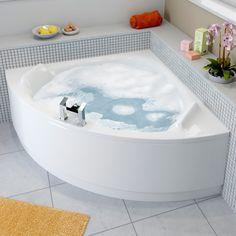Affine Melodie Corner Bath with Panel