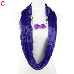 purple loop scarf seamless light weight thin shawl fall stole for wife NL-2021C #Welldone #Scarf