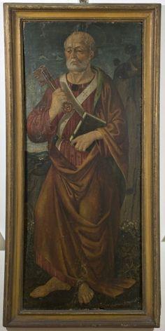 Biagio d'Antonio, San Pietro tavola, cm. 117x49 + cornice 8 cm., n. inv. 123