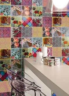 Kitchen Interior - tiles.  Love this!