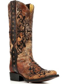 d42fbe08b42 Corral Women s Embroidered and Stud Western Boots