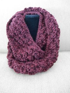 Knit this cozy cowl with Wool-Ease Thick & Quick! Free pattern by Knitting with Schnapps calls for just one ball of yarn and size 15 circular knitting needles.