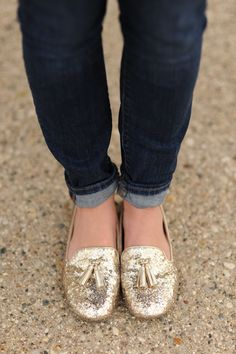 Glitter Loafers.