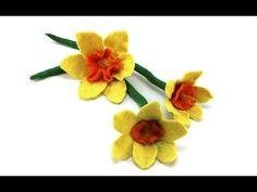 Filzanleitung: Gefilzte Blüte / Osterglocke - felt flower - YouTube