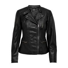 ONLY Freya faux leather black biker – Optimum Outfit Khaki Jacket, Clothing Tags, Faux Leather Jackets, Winter Outfits, Biker, Lady, Coat, Clothes, Closure