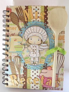 Feel: Recetario Chef Marci. Notebook recipes. Cuaderno de cocina. Libro alterado.