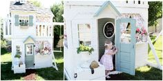 Mom Transforms an Ordinary Playset Into an Adorable Country Playhouse for Her Daughter