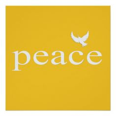 Yellow Inspirational Peace Quote
