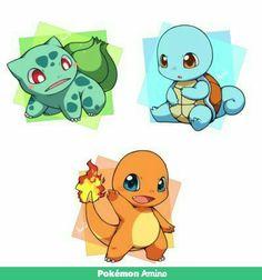 #Glumanda #schiggy #bisasam #pokemon