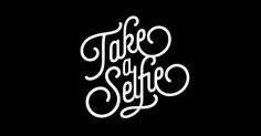 selfie font thin line typography