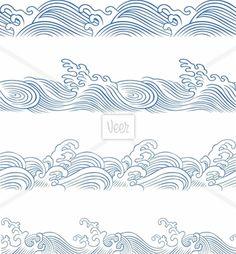 wave illustration Stock Illustration - Veer.com Doodle Drawings, Doodle Art, Doodles, Neue Tattoos, Ouvrages D'art, Wave Art, Tatoo Art, Art Et Illustration, Stock Illustrations