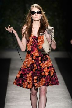 Marcy Very Much: A Cat On The CatWalk?!  http://marcyverymuch.blogspot.com/2013/09/a-cat-on-catwalk.html  #cats #catwalk #catcontroversy #fashion #marcy