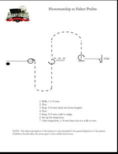 Practice with this #showmanship pattern from the 2014 Built Ford Tough AQHYA World Chmapionship Show. #AQHYAWorld