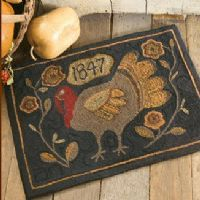 Turkey rug- HAVE to hook this one!