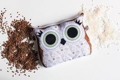 Magical companion owl, hot and cold pillow with rice and flax seed, owl illustration. See more of our fun products on our Etsy page!