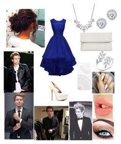 """""""Prom with Luke Hemmings"""" by mesber ❤ liked on Polyvore featuring Monika Strigel, Kobelli, Givenchy, Whistles and Charlotte Tilbury"""