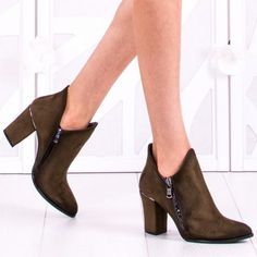 Botine Dama Caylin Khaki Booty, Ankle, Shoes, Fashion, Moda, Swag, Zapatos, Wall Plug, Shoes Outlet