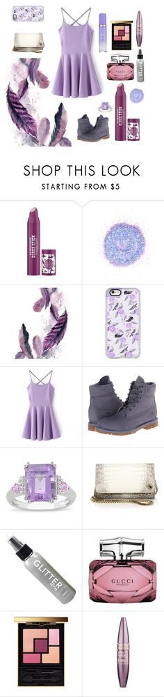 """""""Modern Rapunzel 💜"""" by encoreacademydancer ❤ liked on Polyvore featuring Soap & Glory, The Gypsy Shrine, Casetify, Timberland, Ice, Ethan K, Gucci, Yves Saint Laurent, Maybelline and Tatcha"""