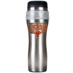 Great American Products Officially Licensed NCAA 14 oz. Stainless Steel Bling Travel Tumbler - Texas Longhorns