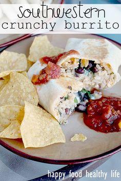 Southwestern Crunchy Burritos- these sound delicious!