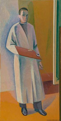 Unto Pusa. Omakuva (1940-luvun alku) Easel, Finland, Selfies, Portraits, People, Painting, Beautiful, Color, Artists