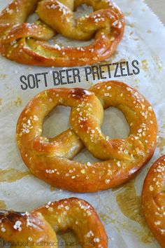 Soft Beer Pretzels recipe from @sheryllbc - The great thing about these Soft Beer Pretzels is you can use the same recipe to make rolls and pretzel bites.