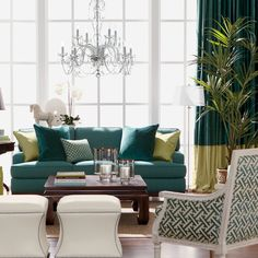 The Teal Deal Living Room