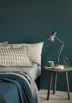 Home Decorating Trends 2018 Bedroom Inspirations, Home Bedroom, Bedroom Interior, Bedroom Design, Bedroom Decor, Bedroom Green, Home Decor, Grey Green Bedrooms, House Interior