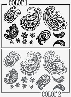 """THIS LISTING INCLUDES:(4) Large Paisley Decals (approx. 16"""" long by 11"""" wide)(6) Medium Paisley Decals (approx. 10"""" long by 7"""" wide)(4) Small Paisley Decals (approx. 6.8"""" long by 4"""" wide)(12) Paisley Flowers (ranging from 2.3"""" wide to 4"""" wide)"""