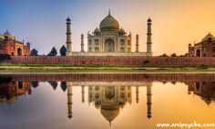 Taj Mahal of Agra, Uttar Pradesh, India #Tour #Travel #Holiday #Destinations #Photography