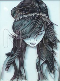 I quilled one of Loui Jover's art. The size is 20*27 cm